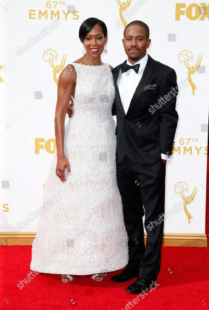 Regina King, left, and Ian Alexander Jr. arrive at the 67th Primetime Emmy Awards, at the Microsoft Theater in Los Angeles