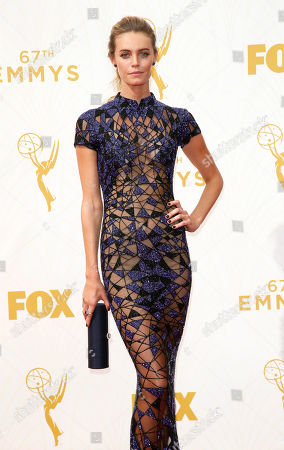 Christine Marzano arrives at the 67th Primetime Emmy Awards, at the Microsoft Theater in Los Angeles