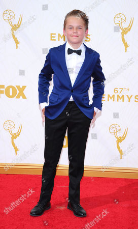 Mason Vale Cotton arrives at the 67th Primetime Emmy Awards, at the Microsoft Theater in Los Angeles