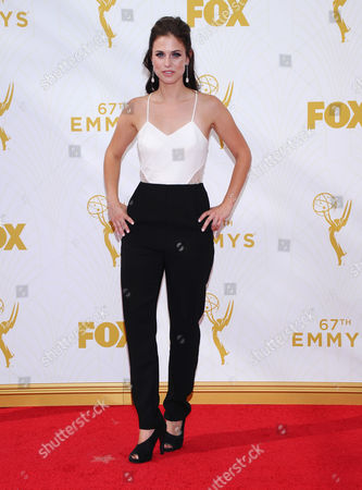 Kelsey Reinhardt arrives at the 67th Primetime Emmy Awards, at the Microsoft Theater in Los Angeles