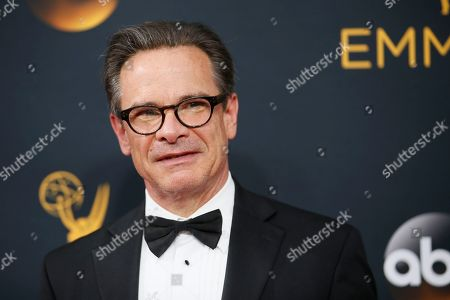 Peter Scolari arrives at the 68th Primetime Emmy Awards, at the Microsoft Theater in Los Angeles