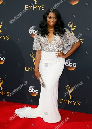 Alexandra Grey arrives at the 68th Primetime Emmy Awards, at the Microsoft Theater in Los Angeles