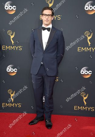 Stock Picture of Andy Samburg arrives at the 68th Primetime Emmy Awards, at the Microsoft Theater in Los Angeles