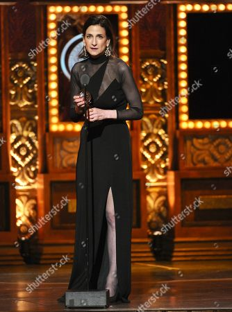 Natasha Katz accepts the award for best lighting design of a play for An American in Paris at the 69th annual Tony Awards at Radio City Music Hall, in New York