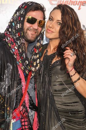 Stock Photo of Bam Margera and Nicole Boyd attend the 6th Annual Revolver Golden Gods Award Show at Club Nokia on in Los Angeles, California