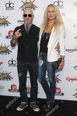 Guitarist Scott Ian of Anthrax, and wife Pearl Aday attend the 6th Annual Revolver Golden Gods Award Show at Club Nokia on in Los Angeles, California