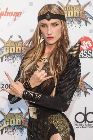 Vocalist Jill Janus of Huntress attends the 6th Annual Revolver Golden Gods Award Show at Club Nokia on in Los Angeles, California