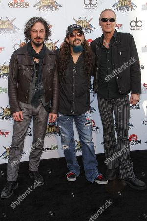 Richie Kotzen, Billy Sheehan, and Mike Portnoy of The Winery Dogs attend the 6th Annual Revolver Golden Gods Award Show at Club Nokia on in Los Angeles, California