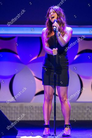 Savannah Outen performs onstage during the 6th Annual Thirst Gala at The Beverly Hilton Hotel on in Beverly Hills, Calif