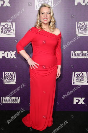 Cheryl Strayed arrives at the Fox Searchlight Golden Globes afterparty at the Beverly Hilton Hotel, in Beverly Hills, Calif