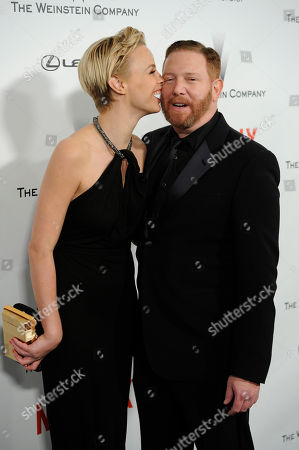 Jessica Roffey, left, and Relativity Media CEO Ryan Kavanaugh arrive at The Weinstein Company and Netflix Golden Globes afterparty at the Beverly Hilton Hotel, in Beverly Hills, Calif