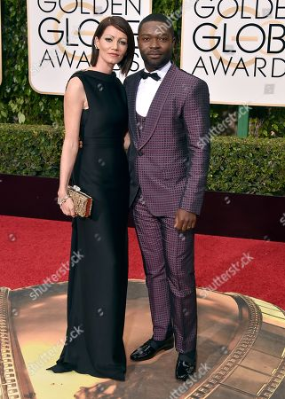 Stock Image of David Oyelowo, right, and Jessica Oyelow arrive at the 73rd annual Golden Globe Awards, at the Beverly Hilton Hotel in Beverly Hills, Calif