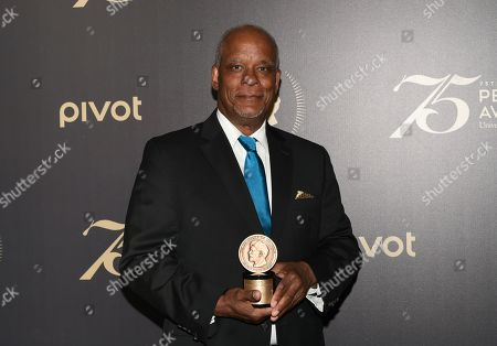 Individual Award Recipient Stanley Nelson poses with his award at the 75th Annual Peabody Awards Ceremony at Cipriani Wall Street, in New York