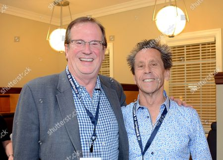 Stock Picture of Pete Hammond and Brian Grazer pose at the 7th Annual Produced By Conference presented by Producers Guild of America at Paramount Pictures Studios on in Los Angeles