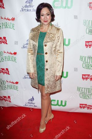 Diana DeGarmo arrives at the 84th Annual Hollywood Christmas Parade, in Los Angeles