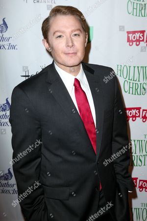 Clay Aiken arrives at the 84th Annual Hollywood Christmas Parade, in Los Angeles