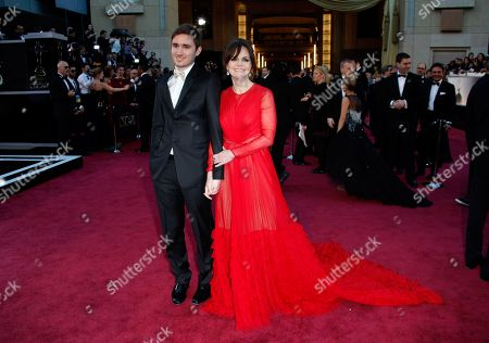Actress Sally Field, right and Sam Greisman arrive at the Oscars at the Dolby Theatre, in Los Angeles