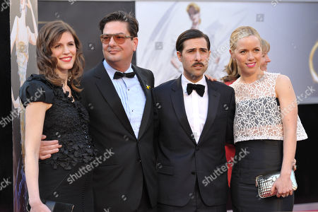 Jennifer Furches, writer/producer Roman Coppola, actor Jason Schwartzman and Brady Cunningham arrive at the 85th Academy Awards at the Dolby Theatre, in Los Angeles