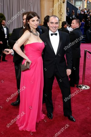Editor Sari Gilman, left, and producer Jedd Wider arrive at the 85th Academy Awards at the Dolby Theatre, in Los Angeles