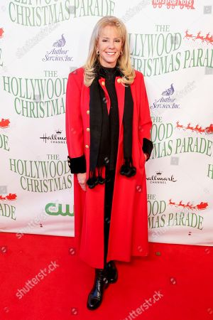Laura McKenzie arrives at the 85th Annual Hollywood Christmas Parade, in Los Angeles