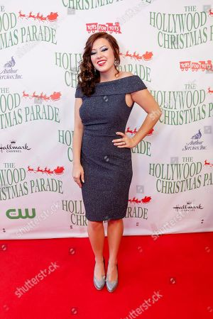 Stock Image of Cassidy Diana arrives at the 85th Annual Hollywood Christmas Parade, in Los Angeles