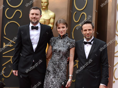Esteban Crespo, Alejandra Lorente and Gustavo Salmeron arrive at the Oscars, at the Dolby Theatre in Los Angeles