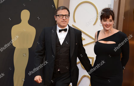 Stock Picture of David O. Russell and Janet Grillo arrive at the Oscars, at the Dolby Theatre in Los Angeles