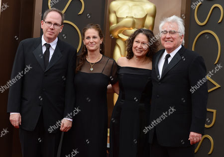 Albert Berger, Ellen Steloff, Annette Yerxa and Ron Yerxa arrive at the Oscars, at the Dolby Theatre in Los Angeles