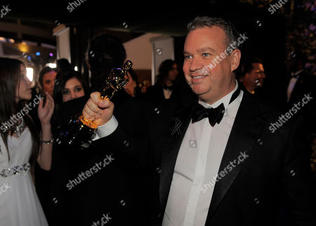 Neil Corbould, winner of Best Achievement in Visual Effects attends the Governors Ball after the Oscars, at the Dolby Theatre in Los Angeles
