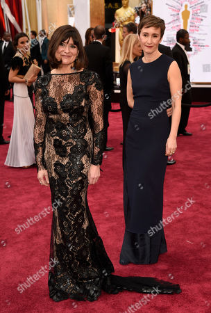 Stock Photo of Maria Djurkovic, left, and Tatiana Macdonald arrive at the Oscars, at the Dolby Theatre in Los Angeles