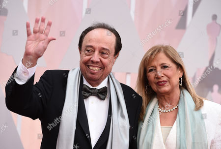 Sergio Mendes, left, and Gracinha Mendes arrive at the Oscars, at the Dolby Theatre in Los Angeles