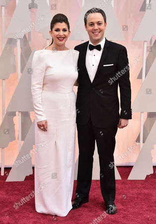 Nora Grossman, left, and Ido Ostrowsky arrive at the Oscars, at the Dolby Theatre in Los Angeles