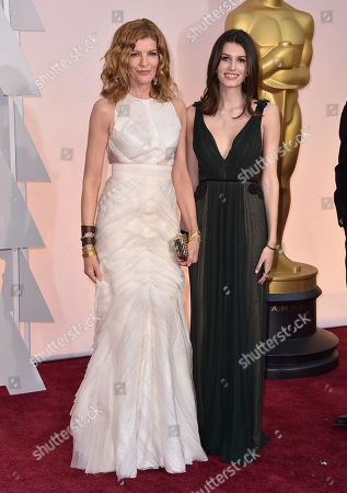 Rene Russo, left, and Rose Gilroy arrive at the Oscars, at the Dolby Theatre in Los Angeles
