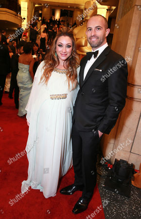 Blair Rich, EVP, Worldwide Marketing at Warner Bros. Pictures, left, and Zev Foreman, President of Production, Voltage Pictures arrives at the Oscars, at the Dolby Theatre in Los Angeles
