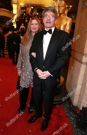 Cindy Horn, left, and Alan Horn, Chairman of The Walt Disney Studios arrive at the Oscars, at the Dolby Theatre in Los Angeles