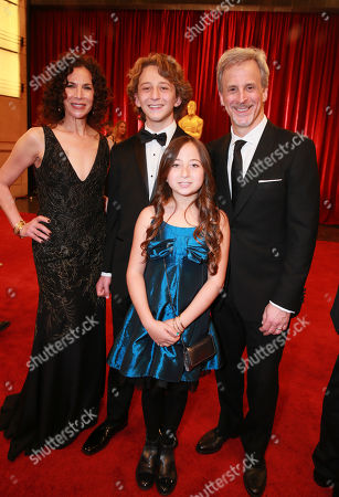 William Goldenberg, right, and family arrive at the Oscars, at the Dolby Theatre in Los Angeles