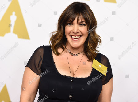 Danielle Brisebois arrives at the 87th Academy Awards nominees luncheon at the Beverly Hilton Hotel, in Beverly Hills, Calif