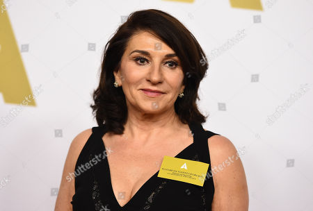 Elizabeth Yianni-Georgiou arrives at the 87th Academy Awards nominees luncheon at the Beverly Hilton Hotel, in Beverly Hills, Calif