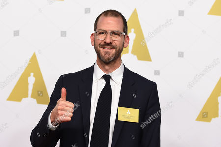 Charlie Siskel arrives at the 87th Academy Awards nominees luncheon at the Beverly Hilton Hotel, in Beverly Hills, Calif