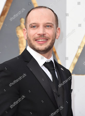 Jamie Donoughue arrives at the Oscars, at the Dolby Theatre in Los Angeles