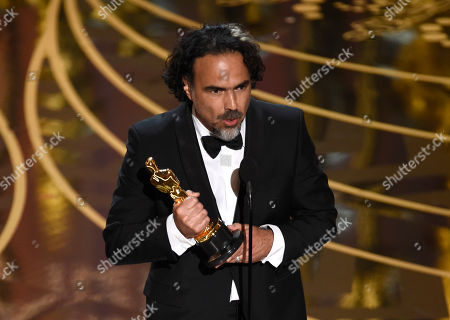 Alejandro G. Inarritu accepts the award for best director for â?œThe Revenantâ?? at the Oscars, at the Dolby Theatre in Los Angeles
