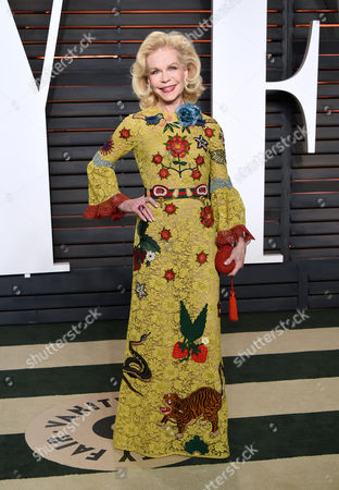 Lynn Wyatt arrives at the Vanity Fair Oscar Party, in Beverly Hills, Calif