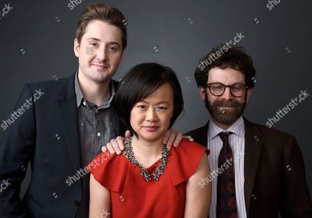 Duke Johnson, from left, Rosa Tran, and Charlie Kaufman pose for a portrait at the 88th Academy Awards Nominees Luncheon at The Beverly Hilton hotel, in Beverly Hills, Calif