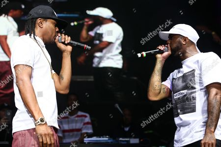 Stock Picture of DJ Quik, left, and Chingy perform during 93.5 KDAY's Krush Groove held at The Forum, in Inglewood, Calif