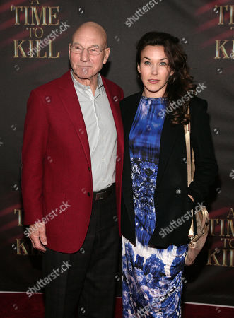 Actor Patrick Stewart, left, and daughter Sophie Alexandra Stewart attend the opening night of 'A Time To Kill' on Broadway on in New York