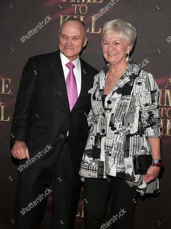 """New York Police Commissioner Ray Kelly, left, and his wife Veronica Kelly, right, attend the opening night of """"A Time To Kill"""" on Broadway on in New York"""