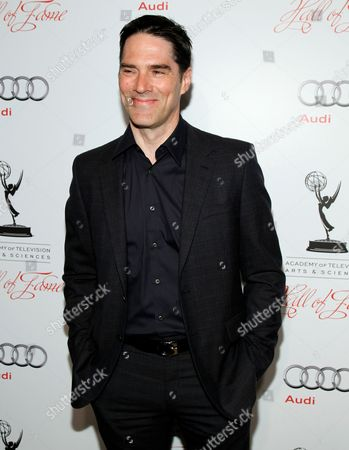 MARCH 1: Thomas Gibson arrives at the Academy of Television Arts & Sciences 21st Annual Hall of Fame Ceremony at the Beverly Hills Hotel on in Beverly Hills, California