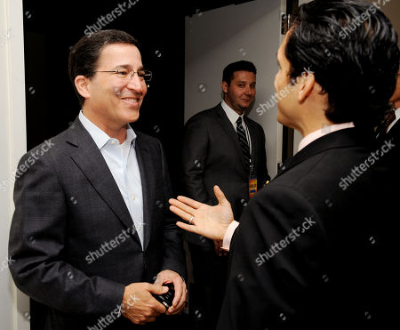 """BEVERLY HILLS, CA - MAY 3: Chairman and CEO, Academy of Television Arts & Sciences, Bruce Rosenblum (L) and actor/producer Danny Arroyo attend the Academy of Television Arts & Sciences' Diversity Committee Presents """"HOLA! - The Phenomenal Growth of Latino Television"""" at the SLS Hotel at Beverly Hills on in Beverly Hills, California"""