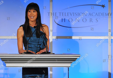 "MAY 2: TV correspondent Laura Ling speaks onstage at the Academy of Television Arts & Sciences Presents ""The 5th Annual Television Academy Honors"" at the Beverly Hills Hotel on in Beverly Hills, California"