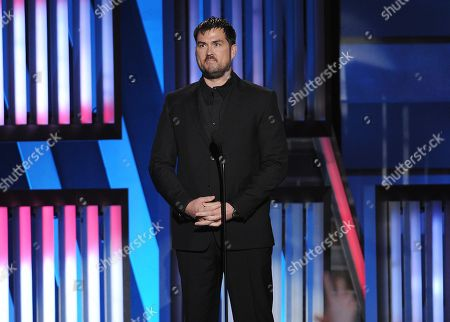 Marcus Luttrell, former United States Navy SEAL, speaks at ACM Presents an All-Star Salute to the Troops, in Las Vegas